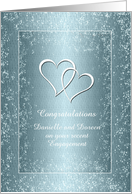 Congratulations - Engagement - Two Hearts Pure card