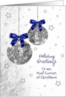 Christmas - Postal Mail Delivery - 70's Disco inspired Ornaments card