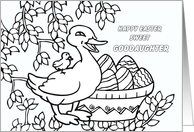 Frame-able Easter Coloring Book Page - Goddaughter card