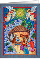 Colorful Nativity Holiday Card
