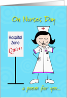 Nurses Day Funny Poem card