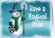 Magical Yule card