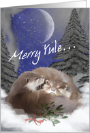Winter Yule Night card
