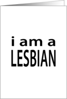 i am a lesbian : coming out announcement card