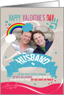 Husband, Gay, Modern Valentine's Photo Card