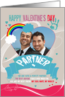 Partner, Gay, Modern Valentine's Photo Card