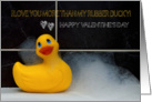 Valentine's Day Fun With Orange Rubber Ducky card