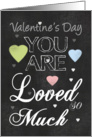 Valentine's Day Chalk Board Design card