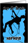 Nephew Silhouette Rock Climbing 30th Birthday Celebration card