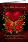 Valentine's Day Card With Heart And Roses card