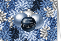 Season's Greetings With Decorations And Bows card
