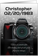 Custom Camera Birthday Card