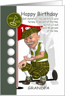 Grandpa Golfer Birthday Greeting Card With Humor card