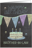 Brother-in-Law Trendy Chalk Board Effect, With Cake card