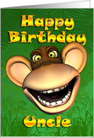 Happy Birthday Uncle Monkey Banana card