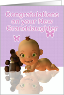 Congratulations A Beautiful Baby Granddaughter - Baby Girl card