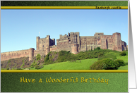 Bamburgh castle Northumberland coast card