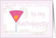 Thank you card Bachelorette Party card