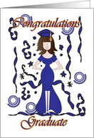 Graduate, Graduation Congratulations with girl card