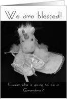 Grandma new baby we are blessed card