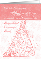 Son & Daughter-in-Law wedding day congratulations card