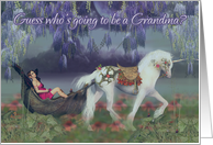 Grandma, becoming a grandma card