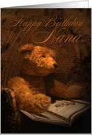 Nana Birthday Card With Teddy Bear Reading A Book card