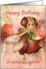 Granddaughter Birthday Card With Strawberry & Cream Fairy card