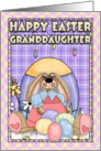 Granddaughter Easter Card - Easter Bunny & Easter Eggs card