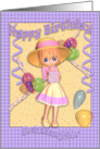 Granddaughter Birthday Card - Cute Little Girl card