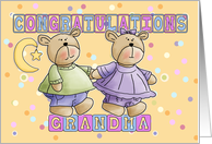 Grandma To New Baby Twins Congratulations card