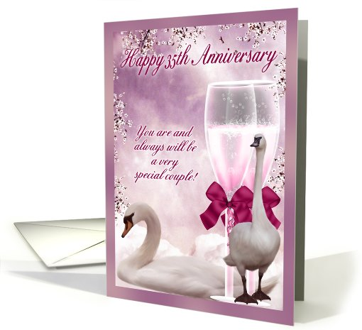 35th Wedding Anniversary Gift Ideas For Friends : 35th Anniversary - Coral Anniversary card (628911)