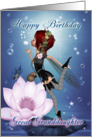 Great Granddaughter Birthday Card With Fantasy Water Fairy card