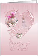 Mother Of The Bride Congratulations - Mother Of The Bride, Pink card