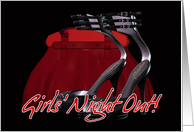 Girls' Night Out Party Invitation card