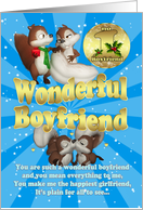 Boyfriend Christmas Card - Love Squirrels card