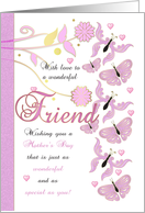 Friend Mother's Day Card With Flowers And Butterflies card
