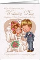 Grandson & New Granddaughter-in-Law Wedding Day Card with love card