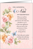 nana birthday card with poem - pink grandma birthday card