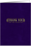 thank you for the interview stylish purple card