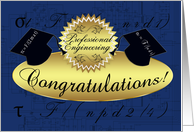 professional engineering congratulations - tensile stress rivets card