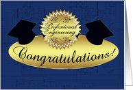 professional engineering congratulations - schematics card