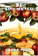 Rosh Hashanah Greeting Card With Apples - Shana Tova card