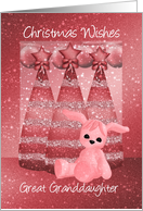 Great Granddaughter Sparkle Christmas Greeting Card Dusky Pink card