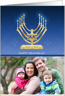 Hanukkah Photo Greeting Card With Menorah card