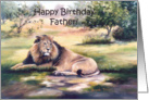Lion Father Birthday card