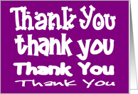 Many Thanks Card in Purple and White card
