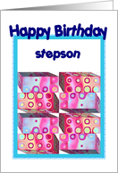 Stepson Birthday with Colorful Gifts card