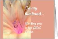 Easter Greetings for Husband card