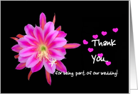General Thank You - Wedding - Black and Turquoise card